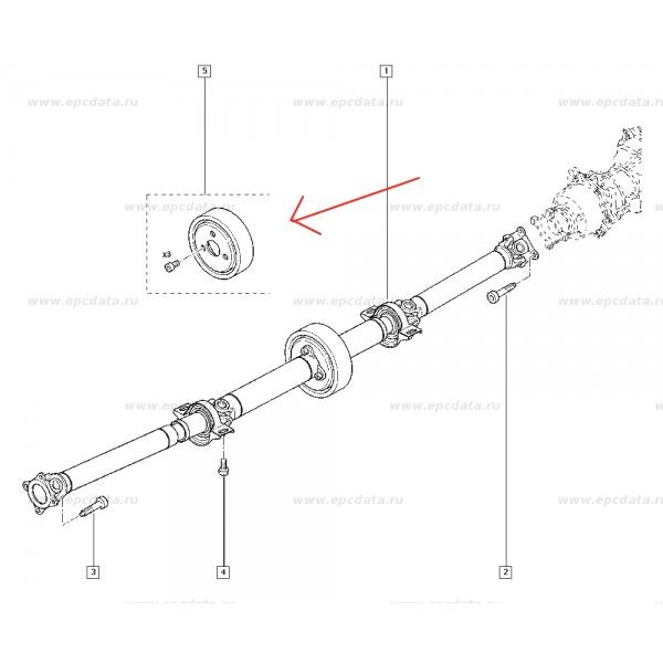 Equilibreur d arbre de transmission Renault Kangoo 4x4 Scenic Rx4 =7701209352