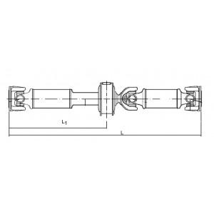 ARBRE TRANSMISSION pour NISSAN CABSTAR 37000-9X501 1502 mm ORIGINE TRANSMISSION ARRIERE