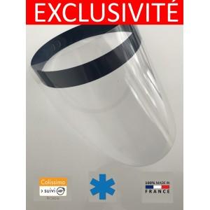 LOT 100 VISIERES - PROTECTION PVC Cristal  COVID ANTI POSTILLON CRACHAT PROJECTION GOUTTELETTE visière